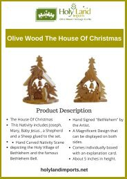 Olive Wood The House Of Christmas(1)