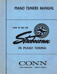 PIANO TUNERS MANUAL