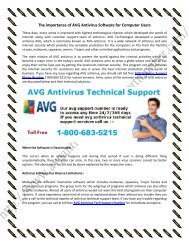 800-683-5215 AVG Antivirus Live Technical Support