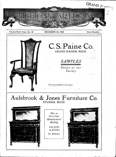 Aulsbrook Jones Furniture Co Grand, Grand Rapids Furniture