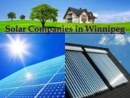 Solar Companies in Winnipeg