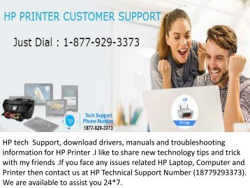 HP tech Support 1877-929-3373 drivers manuals trubleshooting