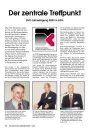 Der zentrale Treffpunkt BVK-Jahrestagung 2003 in Köln