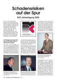 Schadensrisiken auf der Spur BVK-Jahrestagung 2005