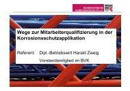 Konzeption Fortbildung BVK - Bundesverband Korrosionsschutz e.V.