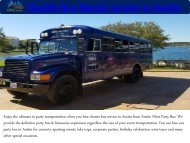 Shuttle Bus Rental in Austin