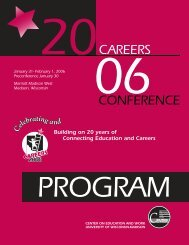 Careers - Center on Education and Work - University of Wisconsin ...