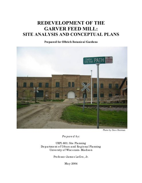 A Redevelopment Plan For The Garver Feed Mill Urban And