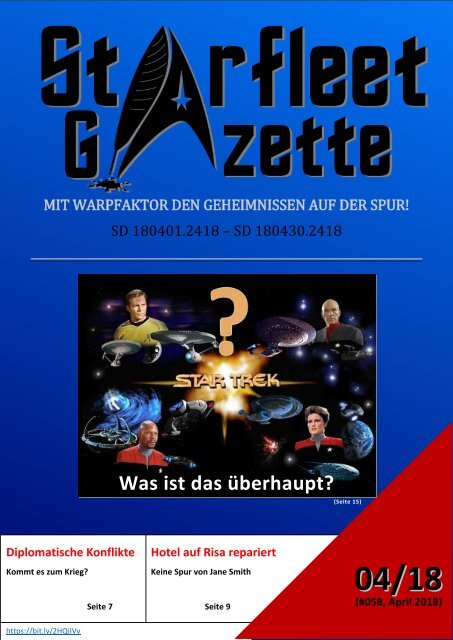 Starfleet-Gazette, Ausgabe 058 (April 2018)