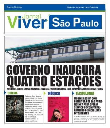 Jornal Viver São Paulo 30 Abril ED. 60