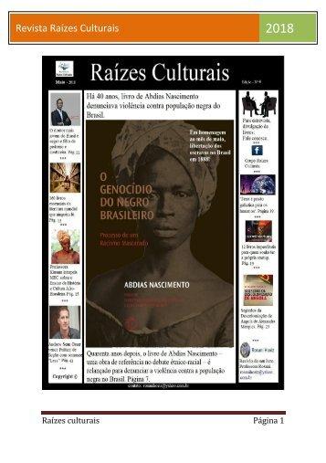 Revista Raízes culturais maio 2018