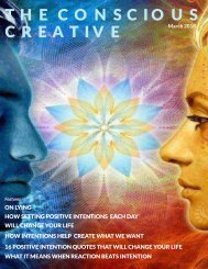 The Conscious Creative: Positive Intention_ April 2018