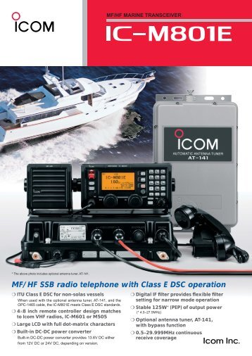 MF/HF SSB radio telephone with Class E DSC operation - Shiptron
