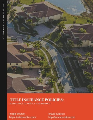 TITLE INSURANCE POLICIES_