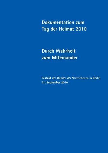 Tag der Heimat 2010 - Bund der Vertriebenen