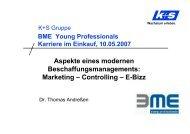 Aspekte eines modernen Beschaffungsmanagements ... - BME