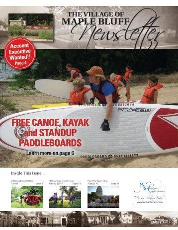Newslette R MAPLE BLUFF - Village of Maple Bluff