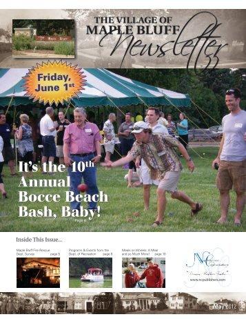 Bocce Beach Bash, Baby! - Village of Maple Bluff