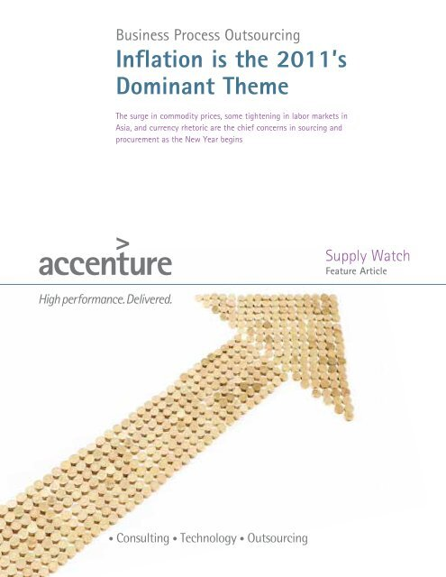 Inflation is the 2011's Dominant Theme - Accenture