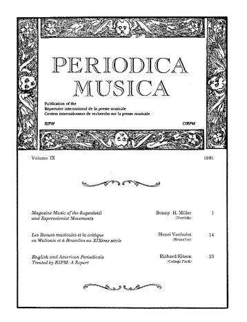 rf - Retrospective Index to Music Periodicals