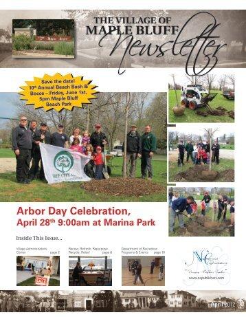 April 2012 - Village of Maple Bluff