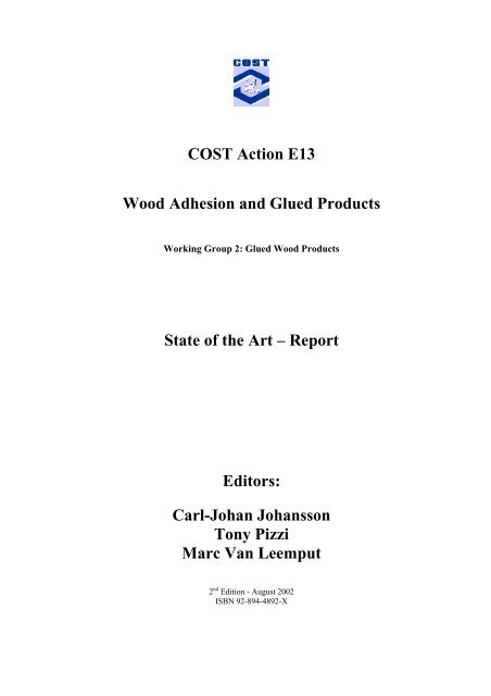 E13 Wood Adhesion And Glued Products