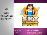 Cleaning Services & Companies In Dubai | SKT Cleaning