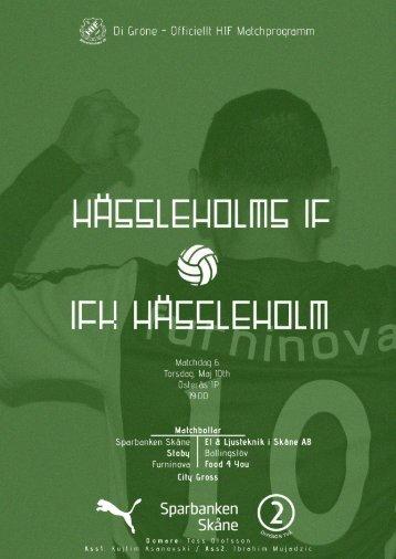 HIFMatchdag 6 Match Program
