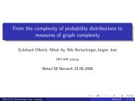 From the complexity of probability distributions to measures of graph ...