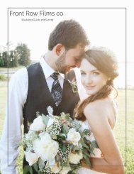 Front Row Films co Wedding Guide