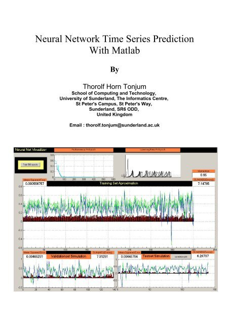Neural Network Time Series Prediction With Matlab