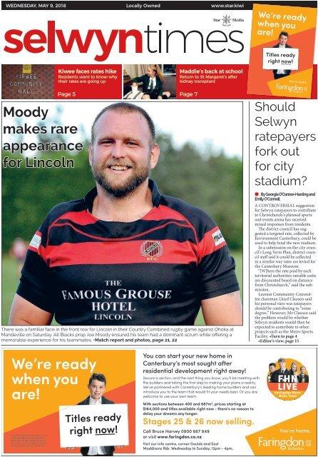 Selwyn Times: May 09, 2018