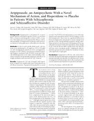 Aripiprazole, an Antipsychotic With a Novel Mechanism of Action ...