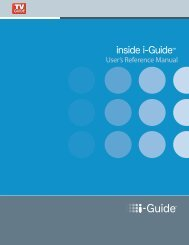 I-Guide User's Reference Manual (PDF) - Cable ONE