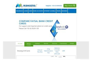 Faysal Bank Credit Cards