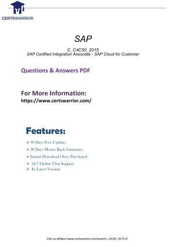 C_C4C50_2015 Actual Exam Questions 2018