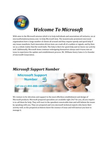 Microsoft Support Phone Number +1-855-888-1806