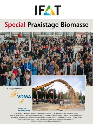 IFAT Special Praxistage Biomasse