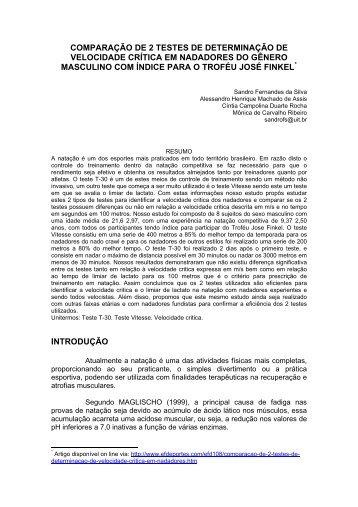 COMPARAÇÃO DE 2 TESTES DE DETERMINAÇÃO ... - Aquabarra