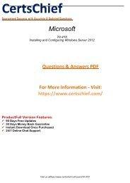 70-410 Free PDF Demo Material 2018