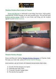 Kitchen Interior designs @ Home and Beyond