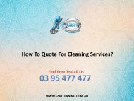 How To Quote For Cleaning Services?