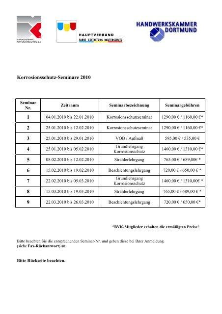 Korrosionsschutz-Seminare 2010 1 2 3 4 5 6 7 8 9 - Bundesverband ...