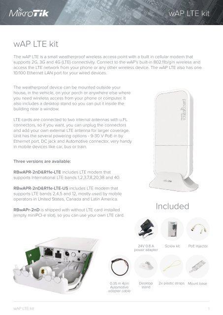 wAP lte kit mikrotik - mstream com ua