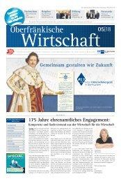 Oberfränkische Wirtschaft Ausgabe 05.2018