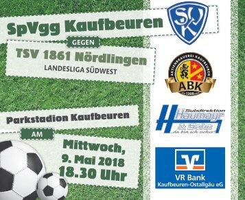 SpVgg Kaufbeuren gegen TSV Nördlingen