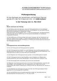 Prüfungsordnung - Bundesverband Korrosionsschutz e.V.