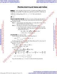Chuyên đề giải đề thi đại học dạng toán Phương pháp toạ độ trong mặt phẳng & không gian - Lê Hồng Đức - Nhóm Cự Môn