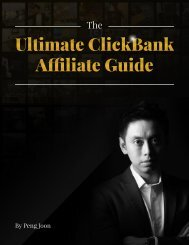 The Ultimate Clickbank Affiliate Guide By Peng Joon
