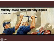 Yesterdays shadow casted upon todays america